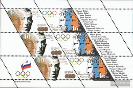 Slovenia 27-28 Sheetlet (complete Issue) Unmounted Mint / Never Hinged 1992 Olympic. Summer, Barcelona - Slovenia