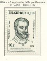 PIA - BELG - 1976 : 4° Centenario Della Pacificazione Di Gand -  Ritratto Del Principe D'Orange(Yv  1820) - Arte