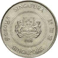 Monnaie, Singapour, 10 Cents, 1986, British Royal Mint, TTB+, Copper-nickel - Singapour