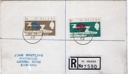 St Helena 1965 ITU Cover With Full Set Of Stamps. - St. Helena