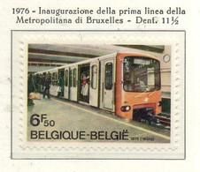 PIA - BELG - 1976 : Inaugurazione Della Prima Linea Della Metropolitana Di Bruxelles - (Yv  1821) - Treni