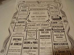 ANCIENNE PUBLICATION PROGRAMME SPECTACLE DE PARIS 1940 - Unclassified