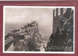 SAN MARINO VISTA DALLA SECONDA TORRE NON VIAGGIATA  FORMATO PICCOLO SMALL SIZE - San Marino