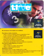 ARGENTINA - Man On Phone, Live, Telefonica Recharge Card(plastic), 03/98, Sample - Argentina