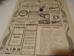 ANCIENNE PUBLICATION SPECTACLE DE PARIS THEATRE CINEMA 1941 - Unclassified