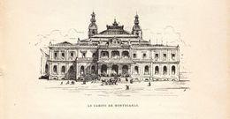Vers 1890 - Gravure Sur Bois - Monaco - Monte-Carlo - Le Casino - FRANCO DE PORT - Stiche & Gravuren