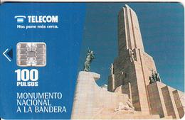 ARGENTINA - Monumento Nacional A La Bandera, Telecom Argentina Telecard, Chip SC7, 06/97, Used - Argentina