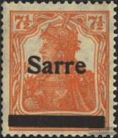 Saar 5I With Hinge 1920 Germania - Unused Stamps
