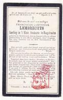 DP Student Franciscus L. Lembrechts 20j. ° Melsbroek Steenokkerzeel 1884 † 1904 / Klein Seminarie Hoogstraten - Santini
