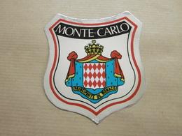 MONTE-CARLO - Autocollant écusson Ville - Stickers