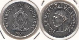 Honduras 20 Centavos 1991 KM#83.1a - Used - Honduras