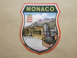 MONACO - Autocollant écusson Ville - Stickers