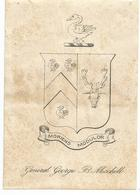 ANGLETERRE , ENGLAND : EX - LIBRIS : GENERAL GEORGE B. MICHELL - Ex-libris