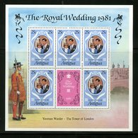 Antigua 1981   25c Royal Wedding  Issue #623  MNH Souvenir Sheet - Antigua And Barbuda (1981-...)