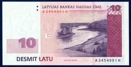 LATVIA - LETTONIE - LETTLAND - LETTONIA 10 LATU LATI PICK 54 DAUGAVA RIVER VIEW 2008 UNC - Lettonie