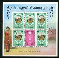 Antigua 1981   50c Royal Wedding  Issue #624  MNH Souvenir Sheet - Antigua And Barbuda (1981-...)