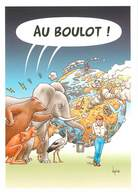 IIlustrateur Bernard Veyri -Enghien Les Bains- Animaux - Eléphants - Ours - Kangourous -Planète Terre -Autographe -Signé - Veyri, Bernard
