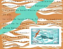 "Saint Pierre And Miquelon, Ship, Patrol Boat ""le Fulmar"" 2018, MNH VF  Souvenir Sheet Of 1 - Unused Stamps"