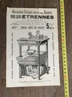 FLYERS ENCART PUBLICITAIRE 1900 MEUBLE ETRENNES MAISON KRIEGER - Collections