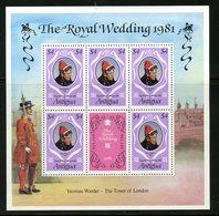 Antigua 1981  $4.00  Royal Wedding  Issue #624  MNH Souvenir Sheet - Antigua And Barbuda (1981-...)