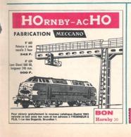 Publicité De Presse // Train Miniature HOrnby-acHO - Loco Diesel 060 DB - Potence à Une Nacelle - Autres