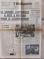 Journal L'Humanité (21 Mai 1958) Le Groupe Communiste/gouvernement - Algérie - - Newspapers