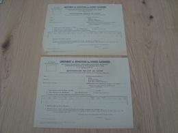 LOT DE 2 DOCUMENTS QUESTIONNAIRE RELATIF AU SAVON HOTELS PARIS 1939 - 1900 – 1949