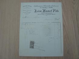 FACTURE LEON HAMEL FILS HORTICULTURE AVRANCHES 1900 - 1900 – 1949