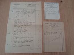 LOT DE 3 FACTURES CHATILLON-COLIGNY SERRURERIE 1934 CHARBON BRETEAU 1936 - 1900 – 1949