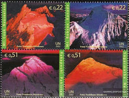 UN - Vienna 363-366 Block Of Four (complete Issue) Unmounted Mint / Never Hinged 2002 International. Year The Mountains - Wien - Internationales Zentrum