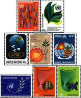 UN - New York 391-393,394-395,396, 413-414 (complete Issue) Unmounted Mint / Never Hinged 1982 SpAce, Environment U.A. - New York – UN Headquarters