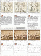 UN - New York 606-607 Sechserblöcke (complete Issue) Unmounted Mint / Never Hinged 1990 Human Rights - New York – UN Headquarters