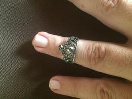 Anello Vintage Di Bigiotteria Con Cristalli E Pietre Dell'epoca Voglio Fiorentino - Anni 80 Idea Regalo - Anelli