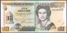 BELIZE 10 DOLLARS PICK 68d QUEEN ELIZABETH II GOVERNMENT HOUSE COURT HOUSE SAINT JOHN'S CATHEDRAL 2010 UNC - Belize