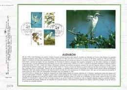 """"""" LES OISEAUX De J.J. AUDUBON """" Sur Feuillet CEF 1er Jour De 1995. N° YT 2929 à 2932 Parfait état. FDC - Collections, Lots & Séries"""