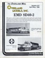 Catalogue OVERLAND MODELS Mail Bulletin 77 April-May 1988 - Boeken En Tijdschriften