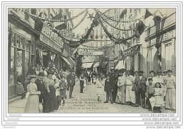 91 CORBEIL - CONCOURS DE MANOEUVRES DE POMPES 1906 DECORATION DE LA RUE SAINT SPIRE - Corbeil Essonnes