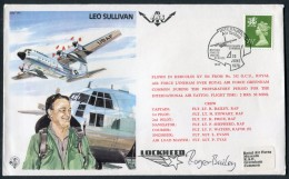 1979 GB Greenham Common Air Tattoo RAF Signed Flight Cover. Leo Sullivan, Test Pilot BFPS Hercules - 1952-.... (Elizabeth II)