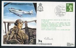 1979 GB RAF BFPS Test Pilot Signed Flight Cover. Jeffrey Kindersley Quill. Abingdon. Spitfire Jaguar - 1952-.... (Elizabeth II)