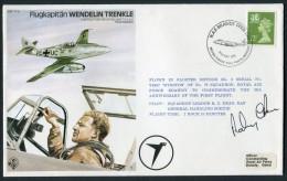 1981 GB RAF BrawdyWales BFPS Test Pilot Signed Flight Cover. Flugkapitan Wendelin Trenkle. Messerschmitt Regensburg - Covers & Documents