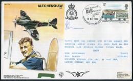 1980 GB RAF BFPS Test Pilot Signed Flight Cover. Alex Henshaw, Cosford Air Display. Goodyear Airship - 1952-.... (Elizabeth II)