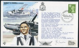 1981 GB RAF BFPS Test Pilot Signed Flight Cover. Jimmy Orell. Biggin Hill. Shackleton, Hendon - 1952-.... (Elizabeth II)