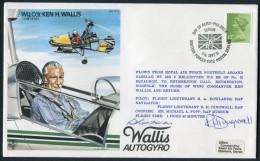 1981 GB RAF BFPS Test Pilot Signed Flight Cover. Ken H Wallis. Hendon, Gazelle Helicopter - 1952-.... (Elizabeth II)
