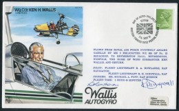 1981 GB RAF BFPS Test Pilot Signed Flight Cover. Ken H Wallis. Hendon, Gazelle Helicopter - Covers & Documents