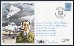 1982 GB RAF BFPS Test Pilot Signed Flight Cover. RJ Falk, Rhodesia Waddington Vulcan Cosford - 1952-.... (Elizabeth II)