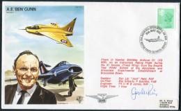 1982 GB RAF BFPS Test Pilot Signed Flight Cover. A.E. 'Ben' Gunn. Biggin Hill, Boscombe Down. - Covers & Documents