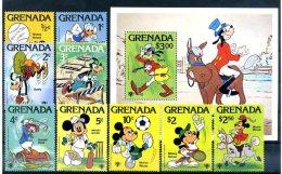 A20323)Disney: Grenada 991 - 999** + Bl 86** - Disney