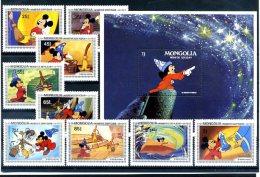 A20341)Disney: Mongolei 1531 - 1539** + Bl 90** - Disney