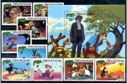 A20351)Disney: Turks + Caicos-Inseln 554 - 562** + Bl 34** - Disney
