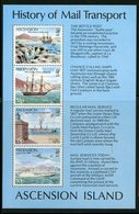 Ascension Island 1980   Mail Transport Issue #260a MNH Souvenir Sheet - Ascension